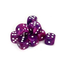 Chessex Chessex: 16mm D6 - Festive - Violet w/ White