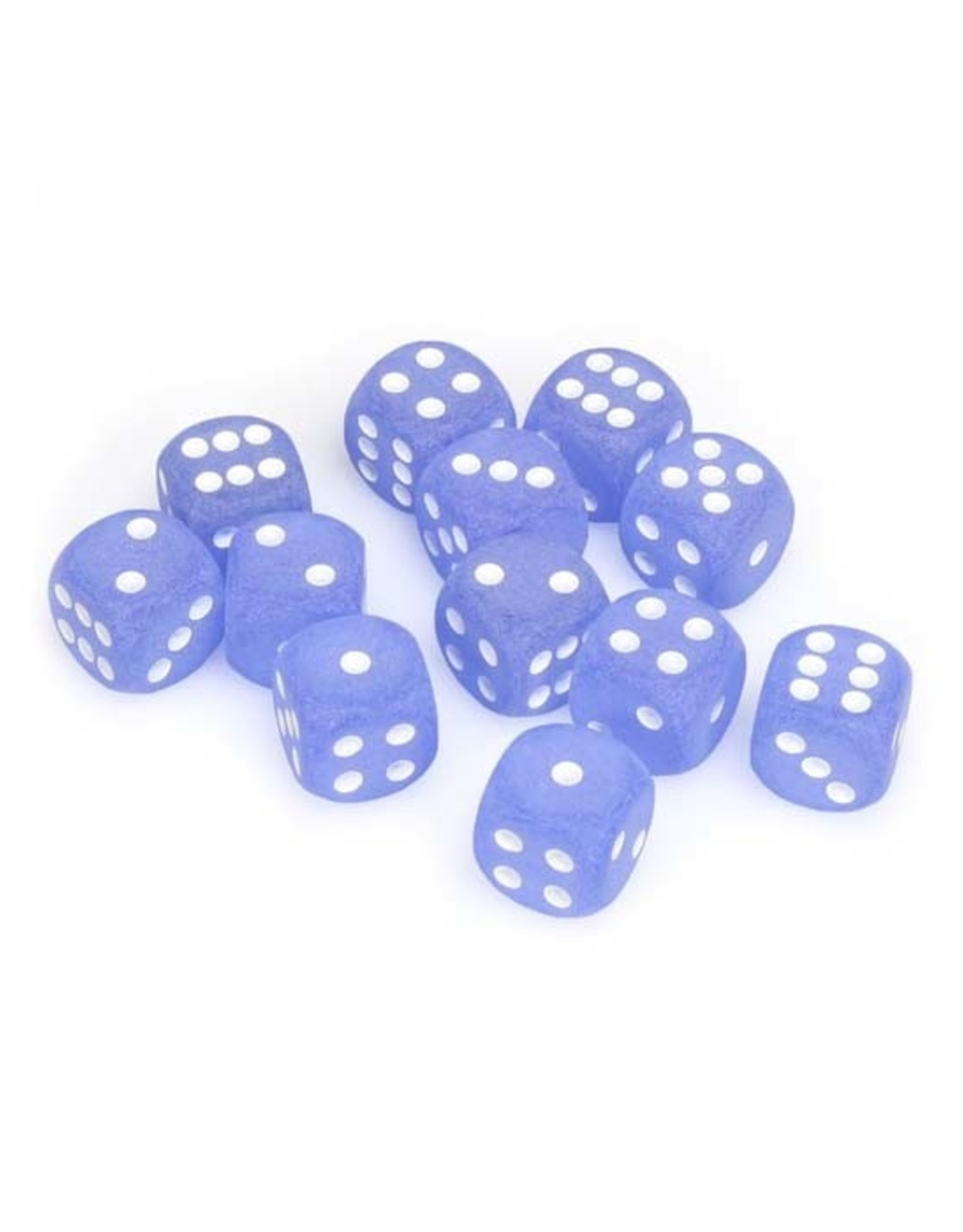 Chessex Chessex: 16mm D6 - Frosted - Blue w/ White