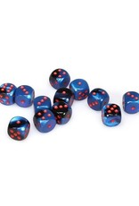 Chessex Chessex: 16mm D6 - Gemini - Black Starlight w/ Red