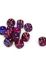 Chessex Chessex: 16mm D6 - Gemini - Blue-Purple w/ Gold