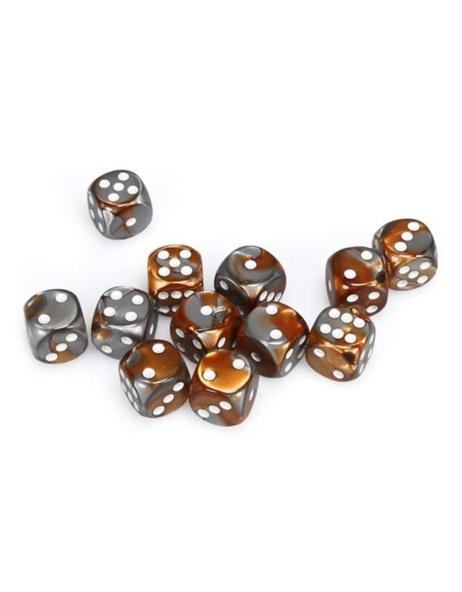 Chessex Chessex: 16mm D6 - Gemini - Copper-Steel w/ White