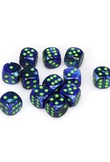 Chessex Chessex: 16mm D6 - Lustrous - Dark Blue w/ Green -