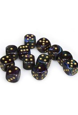 Chessex Chessex: 16mm D6 - Lustrous - Shadow w/ Gold