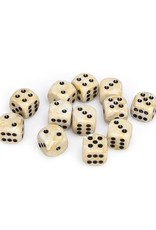 Chessex Chessex: 16mm D6 - Marble - Ivory w/ Black