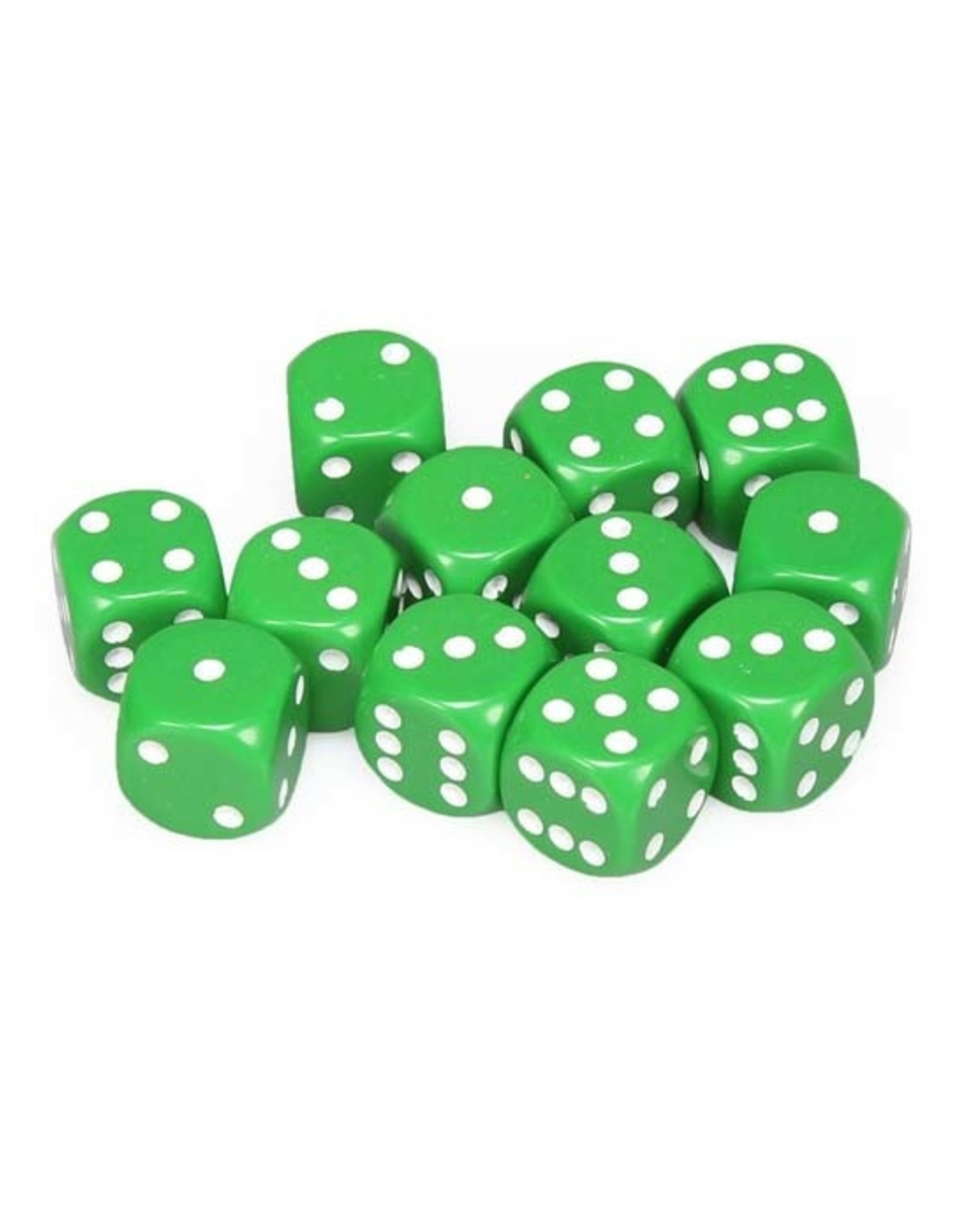 Chessex Chessex: 16mm D6 - Opaque - Green w/ White