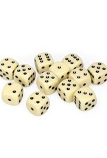 Chessex Chessex: 16mm D6 - Opaque - Ivory w/ Black