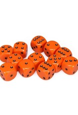 Chessex Chessex: 16mm D6 - Opaque - Orange w/ Black