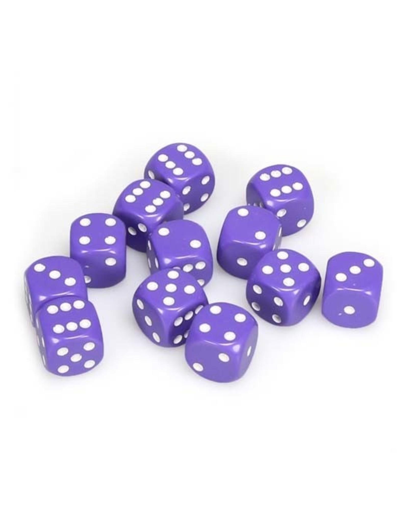 Chessex Chessex: 16mm D6 - Opaque - Purple w/ White