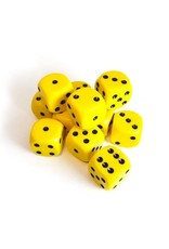 Chessex Chessex: 16mm D6 - Opaque - Yellow w/ Black