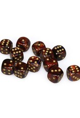 Chessex Chessex: 16mm D6 - Scarab - Blue Blood w/ Gold