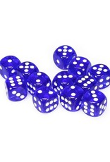 Chessex Chessex: 16mm D6 - Translucent - Blue w/ White