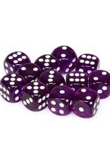 Chessex Chessex: 16mm D6 - Translucent - Purple w/ White