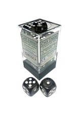 Chessex Chessex: 16mm D6 - Translucent - Smoke w/ White