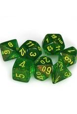 Chessex Chessex: Poly 7 Set - Borealis - Maple Green w/ Yellow
