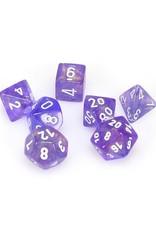 Chessex Chessex: Poly 7 Set - Borealis - Purple w/ White
