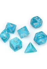Chessex Chessex: Poly 7 Set - Cirrus - Aqua w/ Silver
