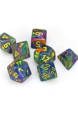 Chessex Chessex: Poly 7 Set - Festive - Rio w/ Yellow