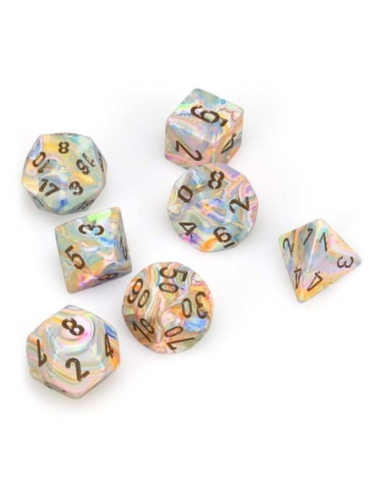 Chessex Chessex: Poly 7 Set - Festive - Vibrant w/ Brown