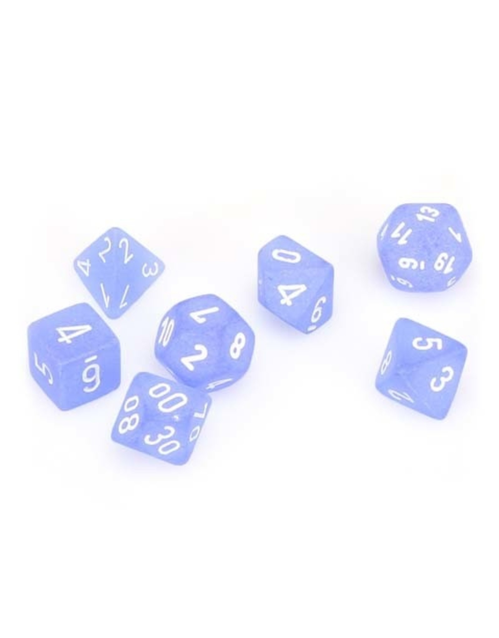 Chessex Chessex: Poly 7 Set - Frosted - Blue w/ White