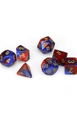 Chessex Chessex: Poly 7 Set - Gemini - Blue-Red w/ Gold