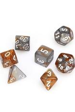 Chessex Chessex: Poly 7 Set - Gemini - Copper-Steel w/ White
