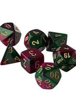 Chessex Chessex: Poly 7 Set - Gemini - Green-Purple w/ Gold