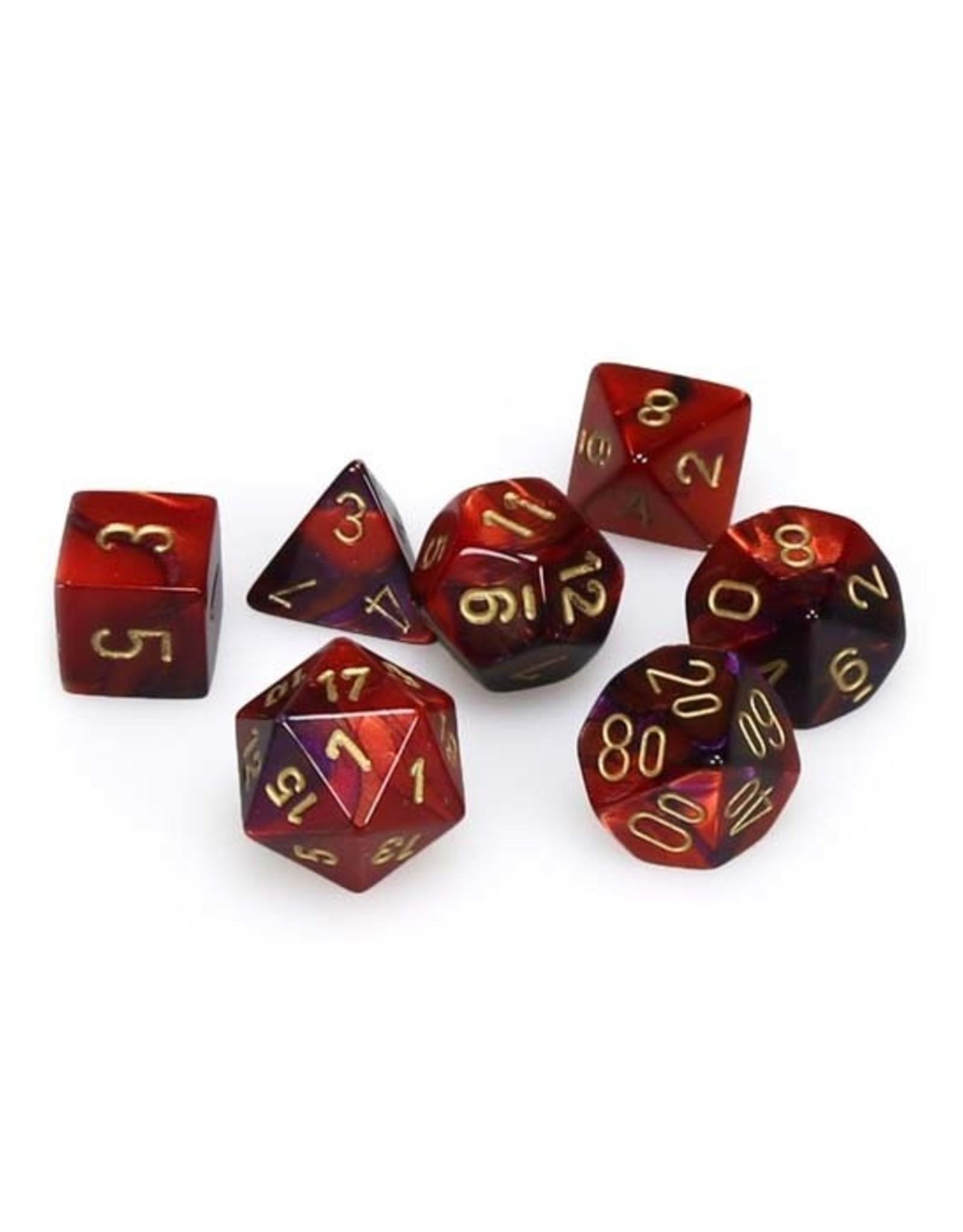 Chessex Chessex: Poly 7 Set - Gemini - Purple-Red w/ Gold