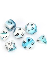 Chessex Chessex: Poly 7 Set - Gemini - Teal-White w/ Black