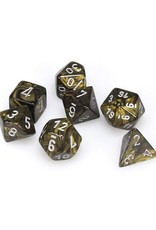 Chessex Chessex: Poly 7 Set - Leaf - Black Gold w/ Silver