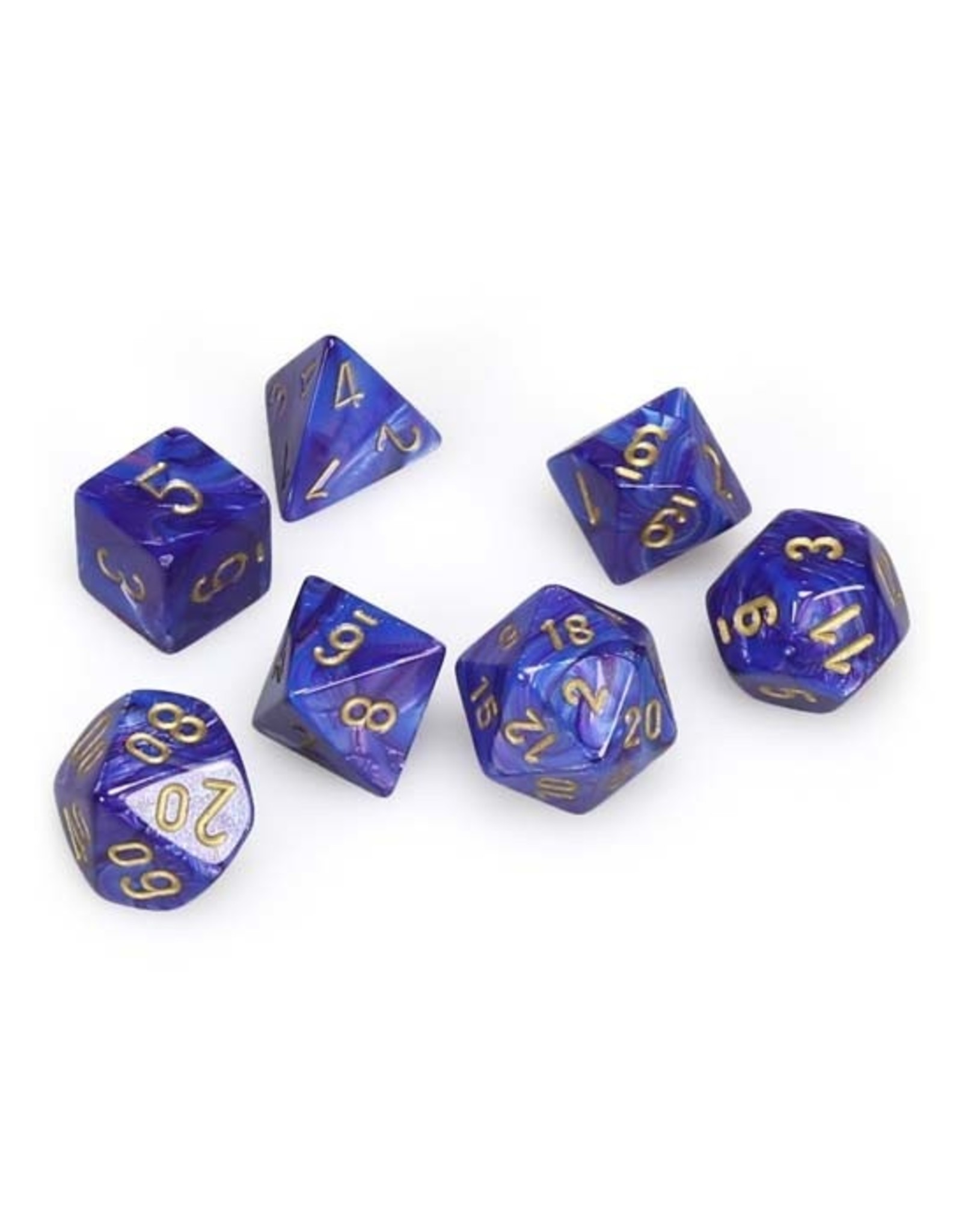 Chessex Chessex: Poly 7 Set - Lustrous - Purple w/ Gold