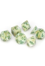 Chessex Chessex: Poly 7 Set - Marble - Green w/ Dark Green