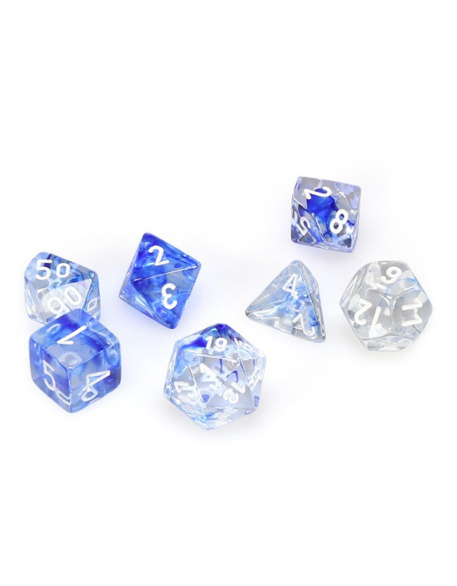 Chessex Chessex: Poly 7 Set - Nebula - Dark Blue w/ White