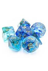 Chessex Chessex: Poly 7 Set - Nebula - Oceanic w/ Gold
