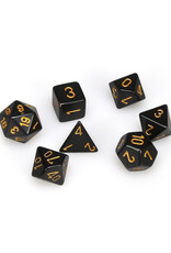 Chessex Chessex: Poly 7 Set - Opaque - Black w/ Gold