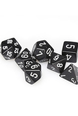 Chessex Chessex: Poly 7 Set - Opaque - Black w/ White