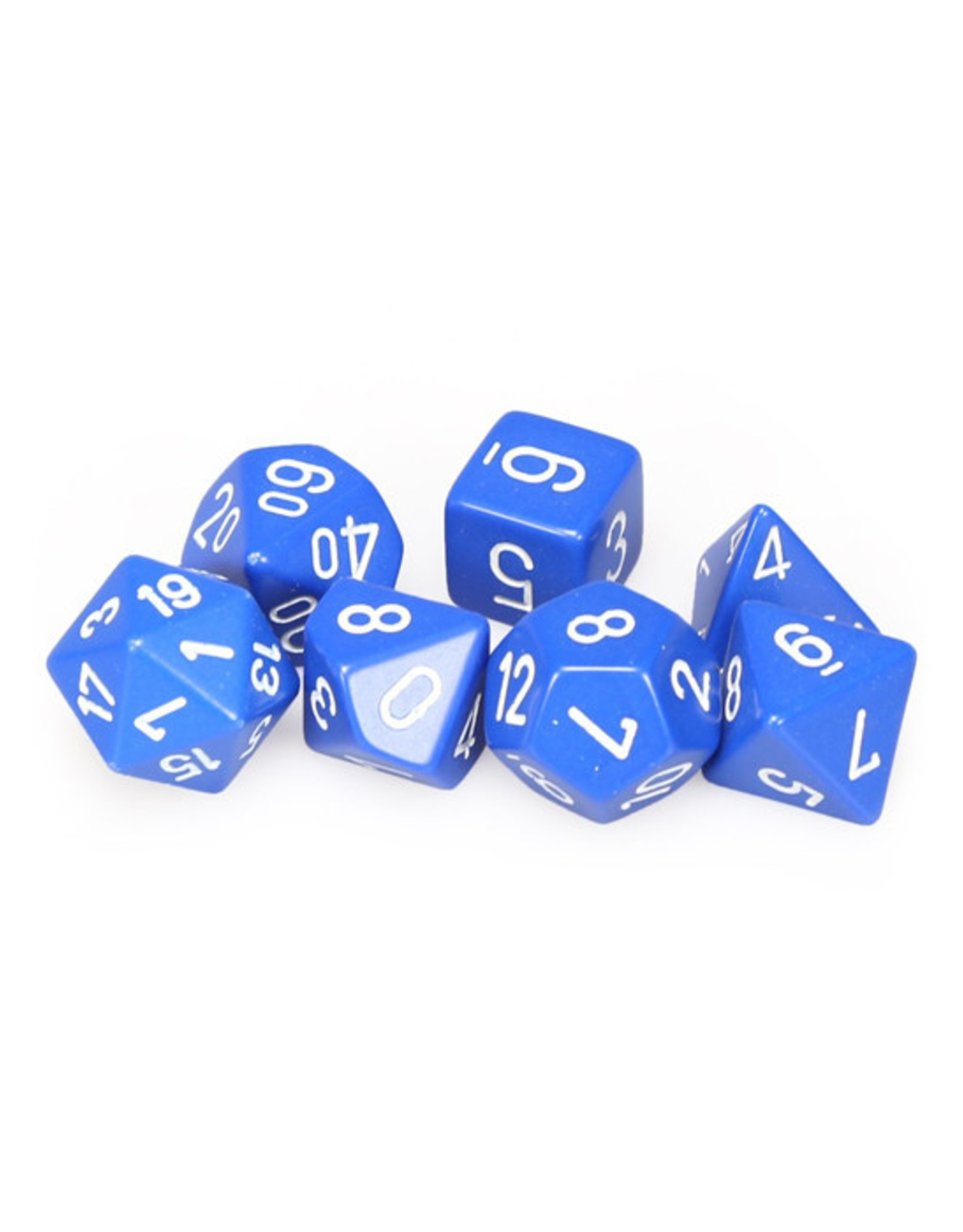 Chessex Chessex: Poly 7 Set - Opaque - Blue w/ White