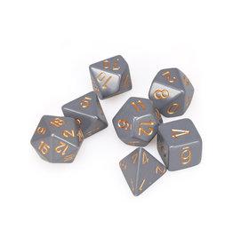 Chessex Chessex: Poly 7 Set - Opaque - Dark Grey w/ Copper
