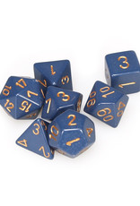 Chessex Chessex: Poly 7 Set - Opaque - Dusty Blue w/ Copper