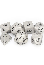Chessex Chessex: Poly 7 Set - Opaque - Grey w/ Black