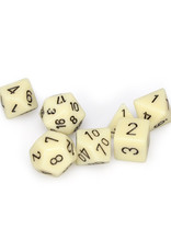 Chessex Chessex: Poly 7 Set - Opaque - Ivory w/ Black