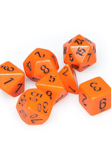 Chessex Chessex: Poly 7 Set - Opaque - Orange w/ Black