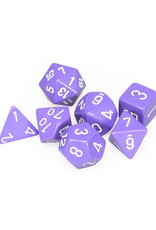 Chessex Chessex: Poly 7 Set - Opaque - Purple w/ White
