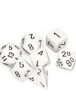 Chessex Chessex: Poly 7 Set - Opaque - White w/ Black