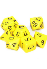 Chessex Chessex: Poly 7 Set - Opaque - Yellow w/ Black