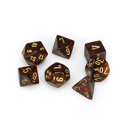 Chessex Chessex: Poly 7 Set - Scarab - Blue Blood w/ Gold