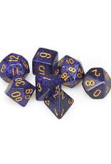 Chessex Chessex: Poly 7 Set - Speckled - Golden Cobalt