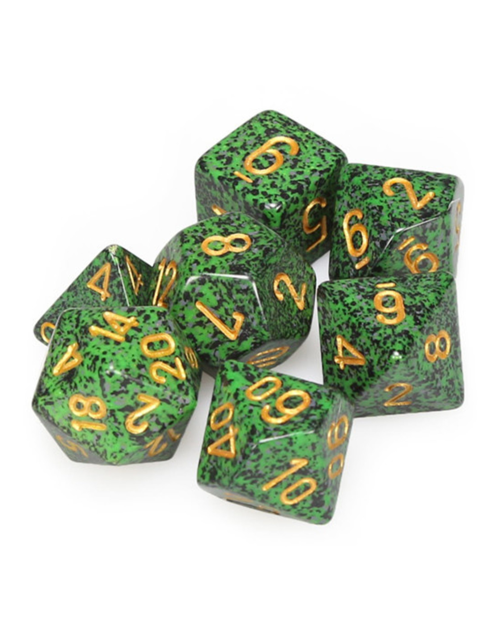 Chessex Chessex: Poly 7 Set - Speckled - Golden Recon