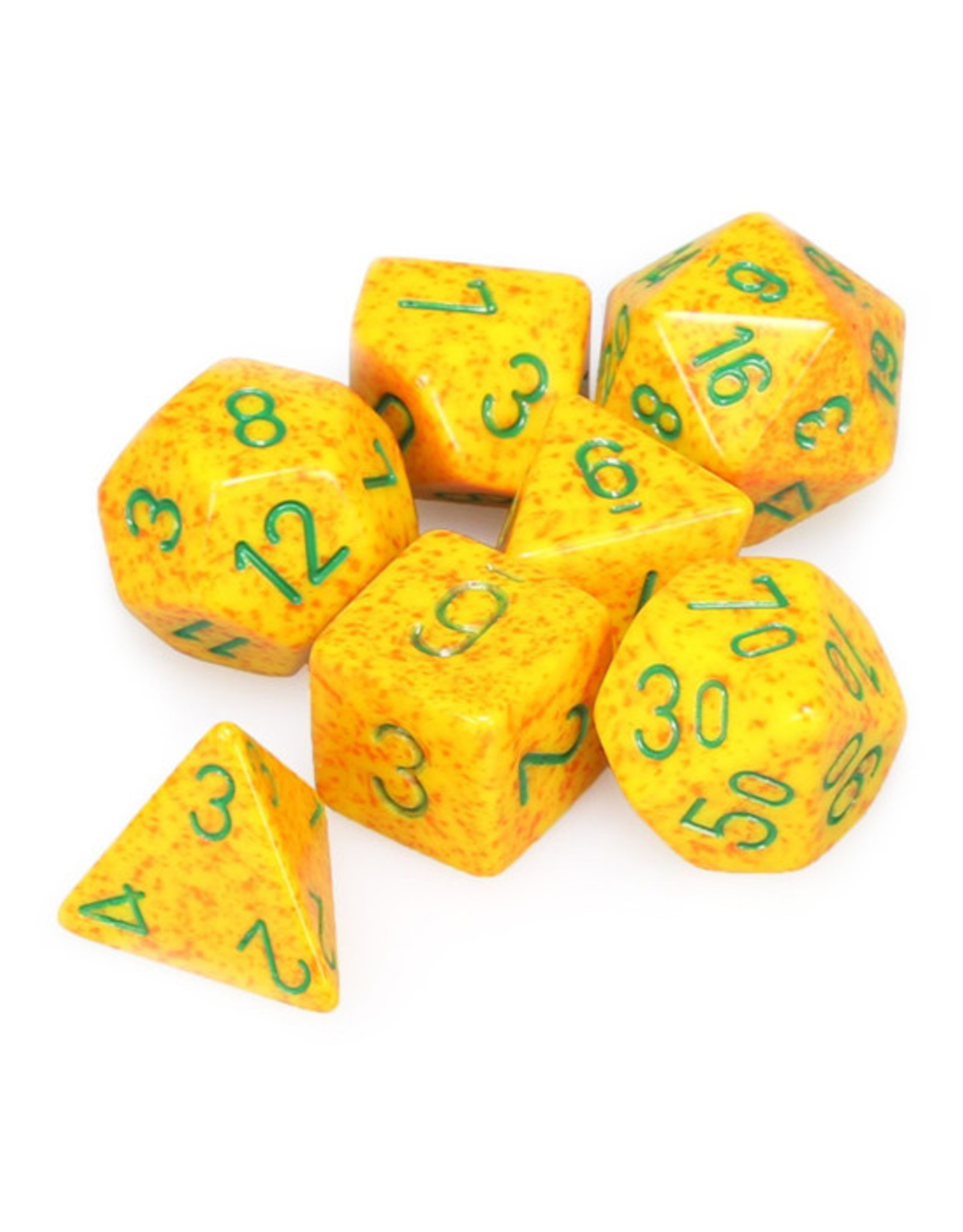 Chessex Chessex: Poly 7 Set - Speckled - Lotus