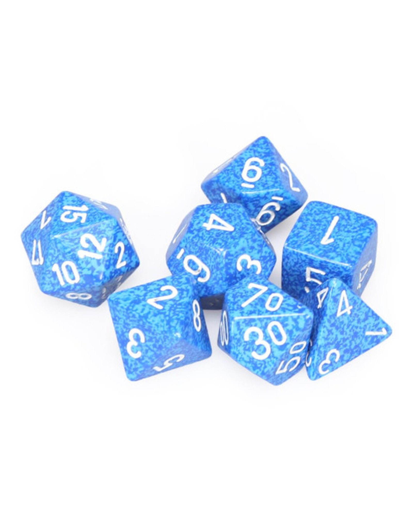 Chessex Chessex: Poly 7 Set - Speckled - Water