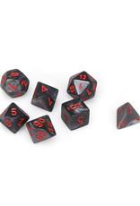 Chessex Chessex: Poly 7 Set - Velvet - Black w/ Red